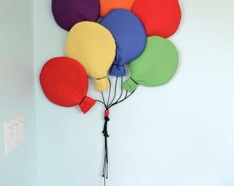 Jewel tone balloon soft wall hanging