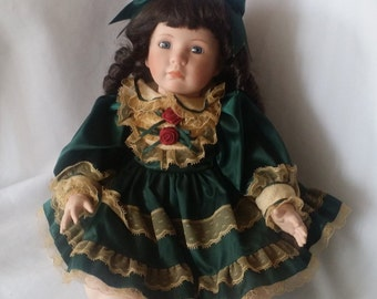 """BRITTANY ~ Haunted Porcelain Doll 19""""  Sitting Doll with a Curious Smile ~ Paranormal Victorian Doll Active Spirit Ghost Doll"""