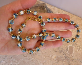 Milleflori Necklace Greek Beaded Necklace