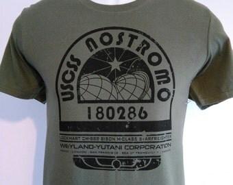 alien 1979 sci fi film movie nostromo space ship ripley weyland yutani colonial marines tee t shirt