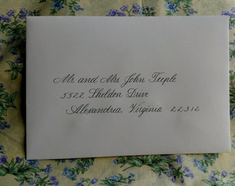 Calligraphy / Hand Lettered Envelopes / for Your Special Celebration