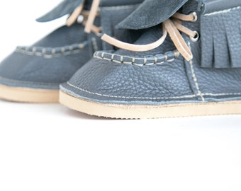 8mm Rubber Outer Sole Add-On for Kids Moccasins sizes 6-9
