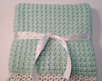 Super Soft Crochet Baby Blanket, 30x30