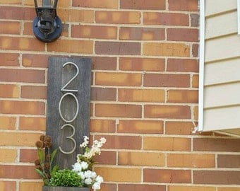 Rustic Address Planter, Address Sign, House Numbers Sign, Address Plaque, Custom Address Sign, New House, Address Planter
