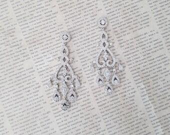 Bridal Earrings, Swarovski Crystal Earrings, Wedding Earrings, Chandelier Earrings, Grad Jewelry, Party Jewelry , Bridal Jewelry
