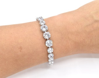 Bridal Bracelet Wedding Bracelet Cubic Zirconia Bracelet CZ Bracelet Wedding Accessories