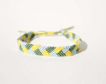 Yellow, Green and Blue Friendship Bracelet