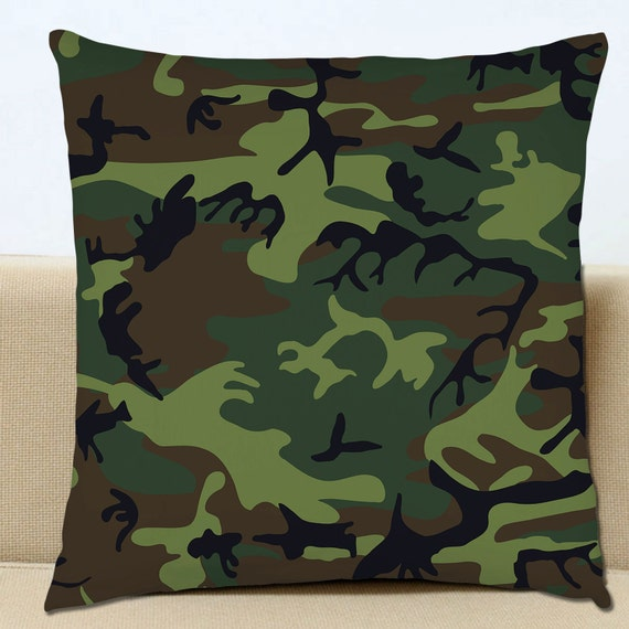 Camo Couch Throw Pillows : Camouflage Cushion Cover Camo Army Sofa by BangTidyClothing