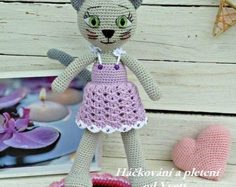 PATTERN - Cat Lady - crochet pattern, amigurumi pattern, cat pattern, PDF