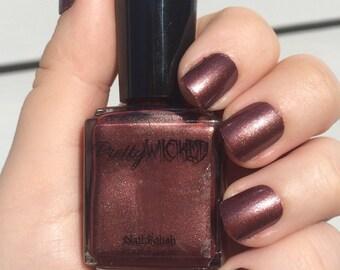 Dark Brownish Red Nail Polish, Xanthe Polish, Rust Nail Polish, Glitter Nail Polish, Brown Nail Polish, Red Nail Polish.