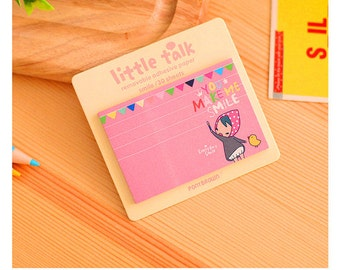 Little Talk - You Make Me Smile / Mini Sticky Notes / Cute Sticky Notes / Kawaii Sticky Notes / Cute Notepad / Kawaii Notepad / Small Notes