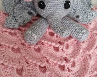 Josefina the Elephant Crochet Lovey