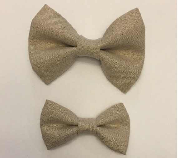 Father And Son Matching Bow Ties Linen Bow Tie Daddy And