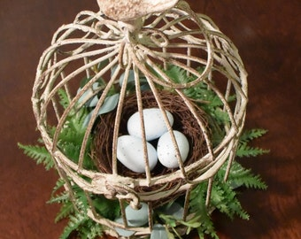 Nestled Nest Bird Cage