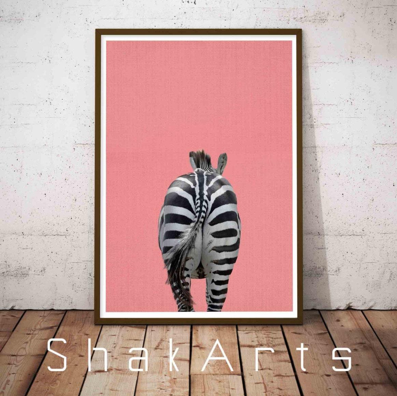 Zebra Print Bathroom Wall Decor : Zebra wall print art