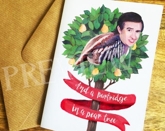 Alan Partridge in a Pear Tree Christmas Card