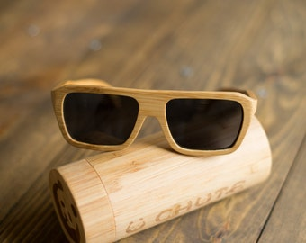 FREE SHIPPING - Mens Bamboo Wood Sunglasses - Classic