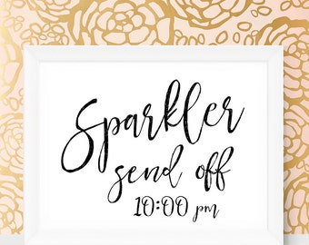 Sparkler Sendoff Wedding Sparklers Send Off Sign Printable Wedding Sign Wedding Sparklers for Wedding Send Off Printables Digital Download