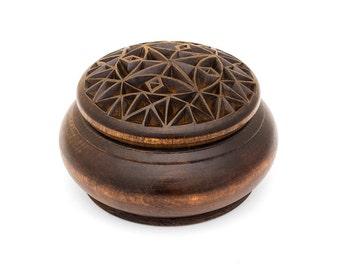 Wooden box / Round wooden box / Wood box / Jewelry box / Jewelry box / Ring box / Jewellery box /