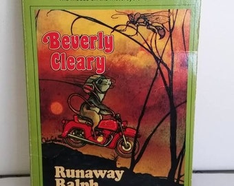 Vintage Beverly Cleary Paperback, Runaway Ralph, Children's Book, Portland Author, Mouse Motorcyle Read Aloud Adventure Humor Kids Story