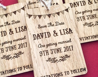 Save The Date - Rustic Wedding Announcement - Save The Date Magnet - Wooden Save The Date - Wedding Announcement - 02STD