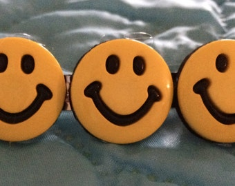 Smiley Face Barrette