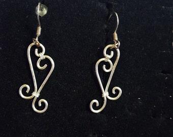 """Double """"S"""" Earrings"""