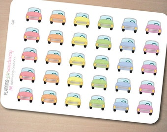 Car | Travel Reminder | Gas Planner Stickers Perfect for Erin Condren, Kikki K, Filofax and all other Planners