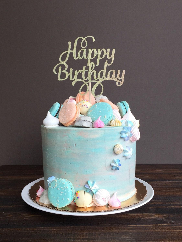Cake topper happy birthday cake topper birthday cake - Happy birthday cake picture ...