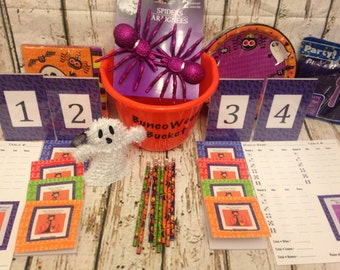 Halloween Bunco Party Accessory Kit for up to 16 people / 4 Tables.  #BuncoWeen (Deluxe Version)