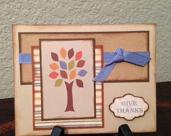 Handcrafted Thanksgiving Card