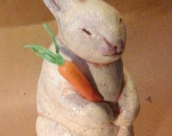 Handmade Rabbit Folk art Sculpture