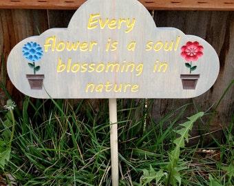 Soul Blossoming garden sign
