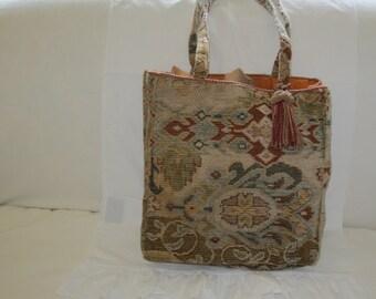 Vintage Tapestry Tote