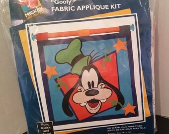 """Mickey Unlimited """"Goofy"""" Fabric Applique Kit"""