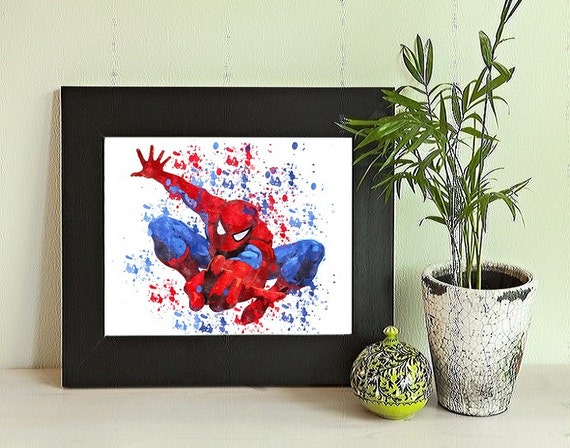 Spiderman Spiderman Print Spiderman Wall Art Spiderman