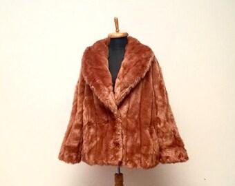 Vintage 70's Tissavel faux fur coat