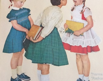 """Vintage ~Norman Rockwell~ Litho from 1972 """"Missing Tooth"""""""