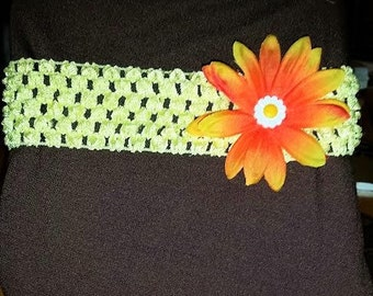 Thick Headband with Flower