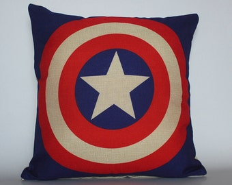 Captain American Pillow cover, Superhero pillow, The Avenger Pillow Cases, Cushion Covers, Decorative Pillows, Home decor Throw Pillow Cases