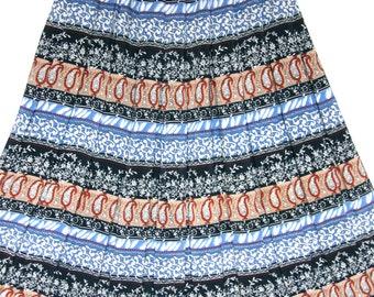 Paisley print skirt | Etsy
