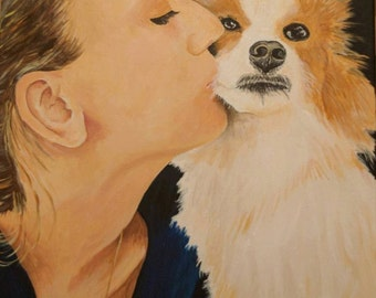 Portrait of Missy and Her Dog