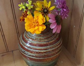 Hand Thrown Vase ~ Small Vase ~ Bud Vase ~ Beehive Vase ~