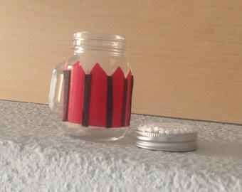Decorated Pie Top Mini Jars