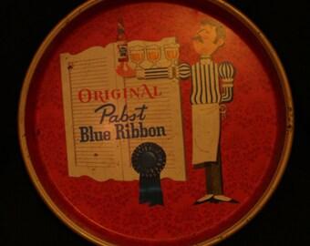 Vintage Pabst Blue Ribbon serving Tray