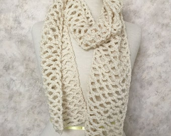 Lightweight Open Lace Scarf