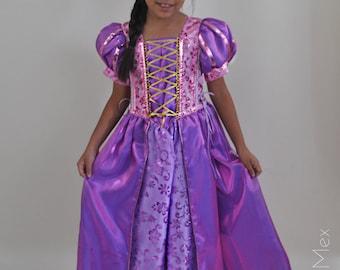 Rapunzel Princess Dress / Princess Rapunzel Costume / Rapunzel Girl Dress / Tangled Princess Dress/ Rapunzel Princess Birthday Dress/ Girl