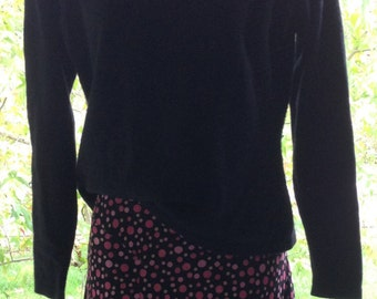 Charcoal cashmere sweater, size S, long sleeve sweater,