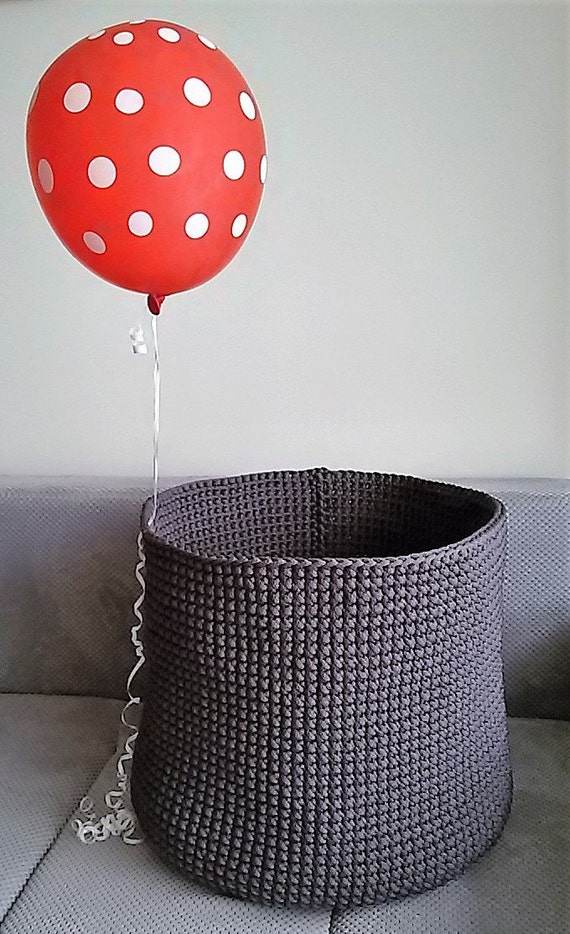 Perfect Laundry basket // Handmade crochet basket // Big crochet basket // Toys Bag // Basket crochet // Home storage//Polyester rope basket