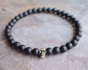 The Motorcross- Silver Skull Men's Bracelet
